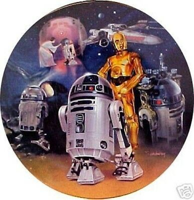 Star Wars R2-D2 Heroes and Villains Ceramic Plate 1999 Hamilton Collection
