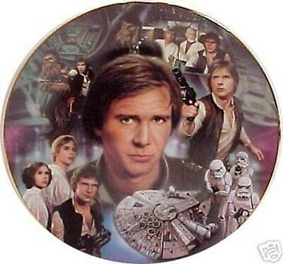 Star Wars Han Solo Heroes and Villains Plate 1996 Hamilton Collection