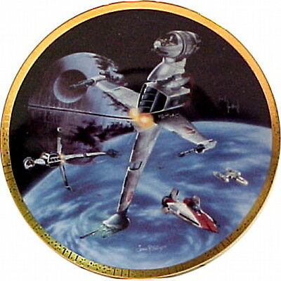 Star Wars B-Wing Space Vehicles Plate, Hamilton, 1996