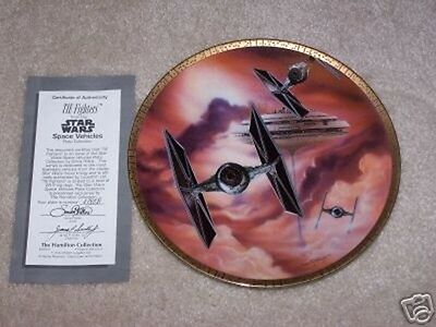 Star Wars Tie Fighters Space Vehicles Plate, 1996