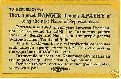 Political Postcard - Republican Vote