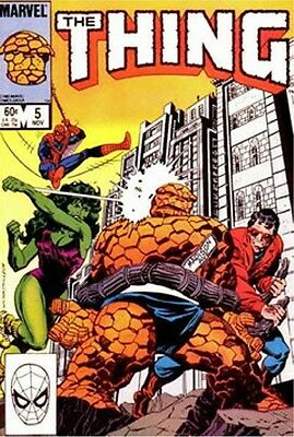 The Thing 5 Fantastic Four Spiderman Ben Grimm Byrne