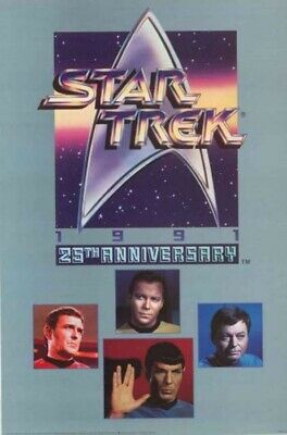 Star Trek Classic TV Series 25th Anniversary Command Logo and Cast Poster UNUSED