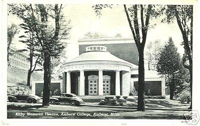 Kirby Memorial Theatre, Amherst College, Mass. Postcard