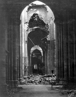 WW1 France Cathedral of St. Quentin Ruins Oct. 1918