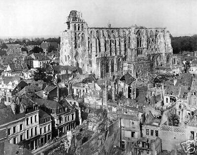 WW1 October 14, 1918 Cathedral of St. Quentin, France