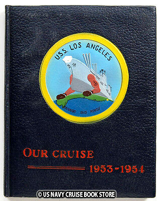 Uss Los Angeles Ca-135  1953-1954 Pacific Cruise Book