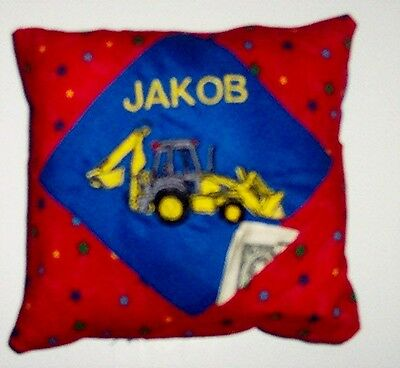Personalized Tooth Fairy Pillow Construction Truck!