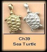 12 Sea Turtle Turtles Charms Charms Ch39