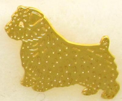 Norfolk Terrier Jewelry Small Gold Pin