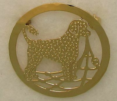 Portuguese Waterdog Jewelry Large Retriever Clip Pin