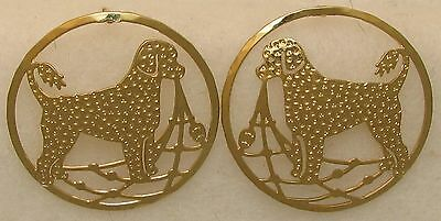 Portuguese Water Dog  Retriever Clip Gold Post Earrings