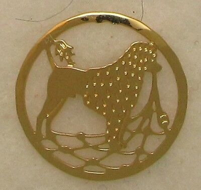 Portuguese Water Dog Jewelry Lion Clip Gold Clutch Pin