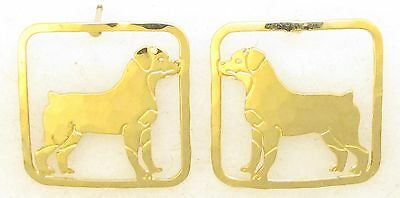 Rottweiler Jewelry Gold Post Earrings by Touchstone