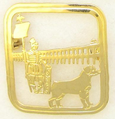 Rottweiler Jewelry Large Gold Pin