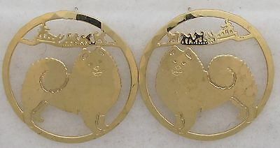 Samoyed Jewelry Gold Post Earrings by Touchstone