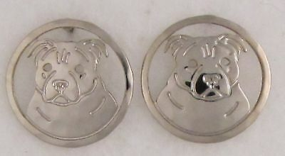 Staffordshire Bull Terrier Jewelry  Silver Earrings