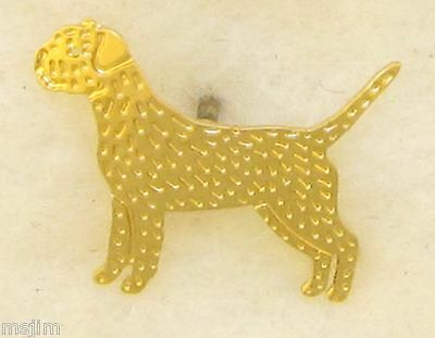Border Terrier Jewelry Small Gold  Pin