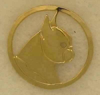 Boston Terrier Jewelry Gold Head Pin by Touchstone