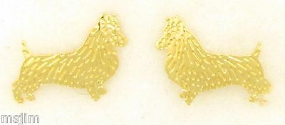 Australian Terrier Jewelry Gold Post Dog Only Earrings