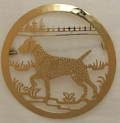 German Shorthaired Pointer Jewelry Gold Locking Back Pin
