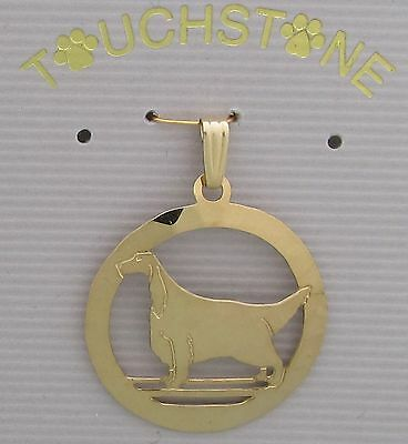 Gordon Setter Jewelry Gold Pendant for Necklace by Touchstone