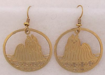 Maltese Jewelry Gold Dangle Earrings by Touchstone