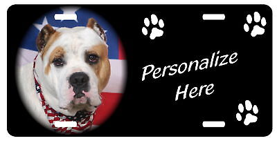 American Bulldog      Personalized    Auto License Plate