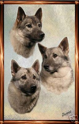 Elkhound A6 Dog Notelets/ Blank Cards No 2 By Starprint