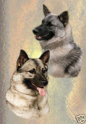 Elkhound A6 Dog Notelets/Blank Cards No 1 By Starprint