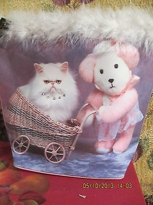 "Persian Cat With Teddy  "" It Must Be Love~  Handbag"