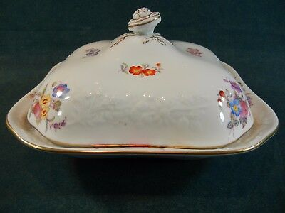"""Copeland Spode Pattern Y6802 Christine 9"""" Covered Serving Bowl with Lid"""