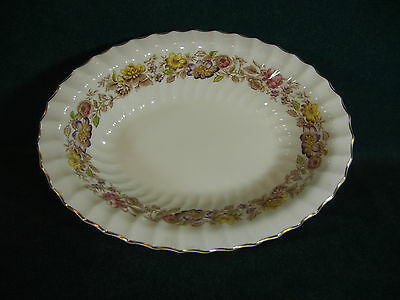 "Royal Doulton Multicolored Mayfair H4897 Oval 10"" Vegetable Serving Bowl(s)"