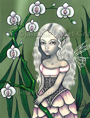 Princess of Orchids art goth fairy lowbrow CANVAS PRINT Jasmine Becket-Griffith