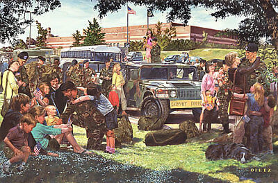 """""""Freedom Isn't Free"""" James Dietz Print -  Mobilization of American Forces"""