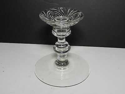 "Paden City Crystal Largo # 220 Candlestick 4 7/8"" H"