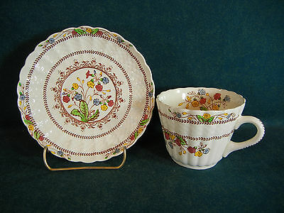 Copeland Spode Cowslip Tall Cup and Saucer Set(s)