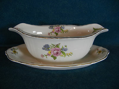 Syracuse Portland Gravy Boat on Attached Under Plate