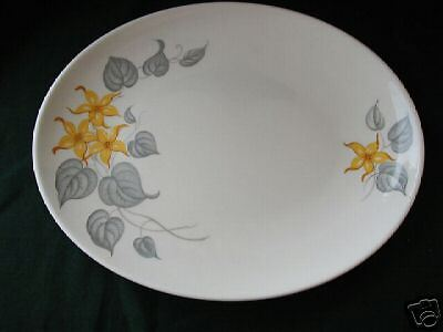 KNOWLES YELLOW JASMINE OVAL PLATTER