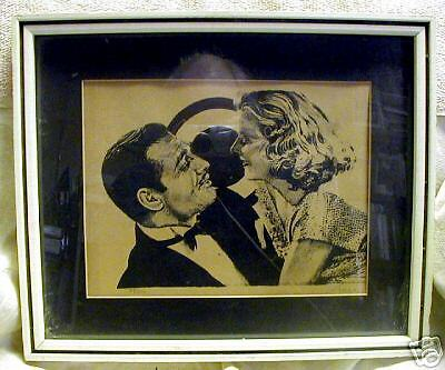 LIMITED EDITION PRINT OF CLARK GABLE & JEAN HARLOW