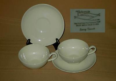 TAYLORTON TAYLOR SMITH & T IVORY TOWER CUP & SAUCER (s)