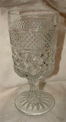 4 Anchor Hocking WEXFORD Clear Footed Water Goblets c 1970