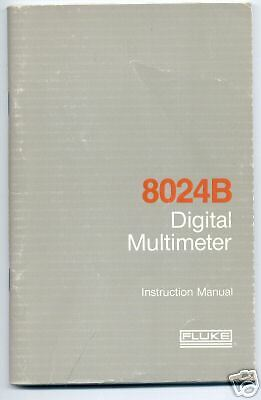 Fluke 8024B Instruction Manual