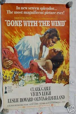 Gone with Wind 38x57 Original Re - Release Movie Poster