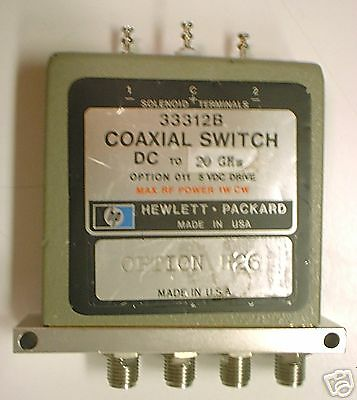 HP 33312B SPDT DC to 20 GHZ Coaxial Switch 5V Operation