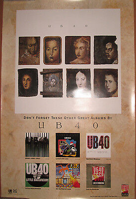 UB40 - double-sided A&M catalog promotional poster, 1988, 24x36, EX, reggae