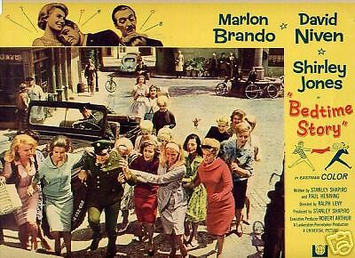 Lobby Card 1964 BEDTIME STORY M Brando chased by girls