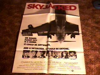 SKYJACKED ORIG MOVIE POSTER GREAT AVIATION PLANES 1972