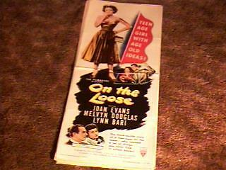ON THE LOOSE 14X36 MOVIE POSTER 1951 BAD GIRL JD