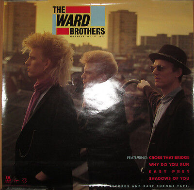 WARD BROTHERS Madness Of It All, A&M promotional poster, 1987, 24x24, VG+